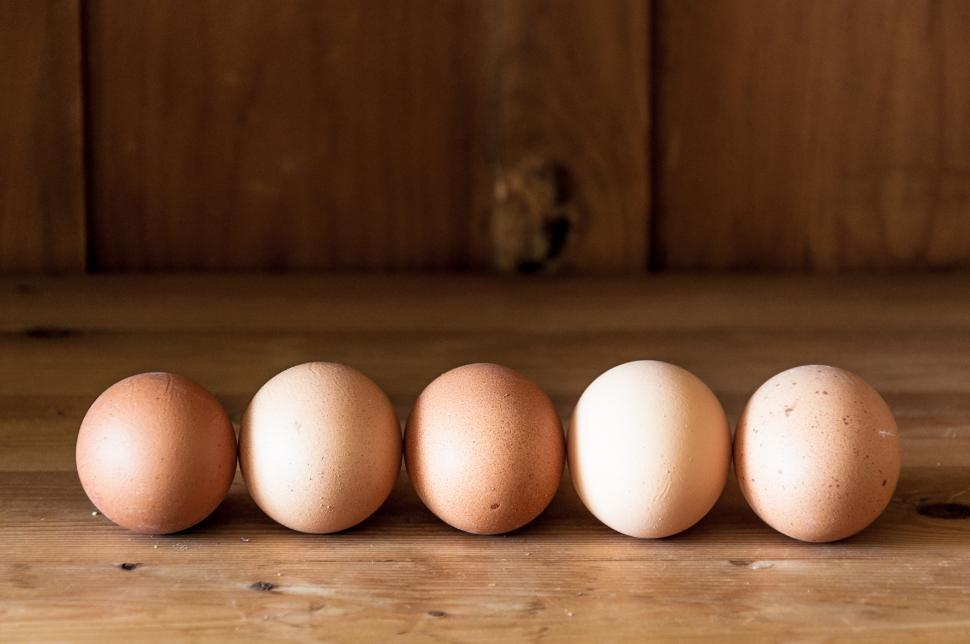 Download Free Stock HD Photo of Eggs on wood background Online