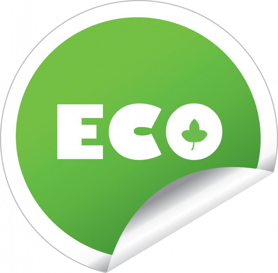 Download Free Stock HD Photo of eco sticker label vector Online