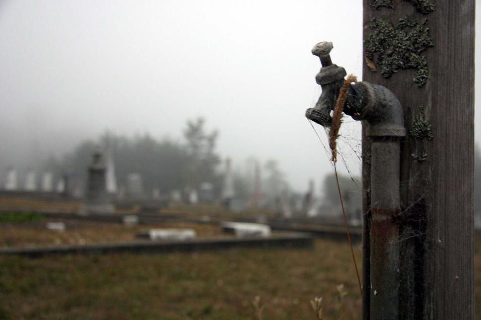 Download Free Stock HD Photo of Spigot in graveyard Online
