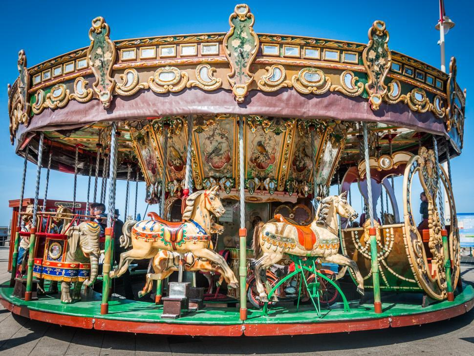 Download Free Stock HD Photo of Old carousel Online