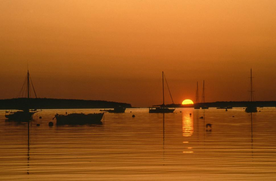 Free image of Sunrise - Southwest Harbor in Hancock County, Maine