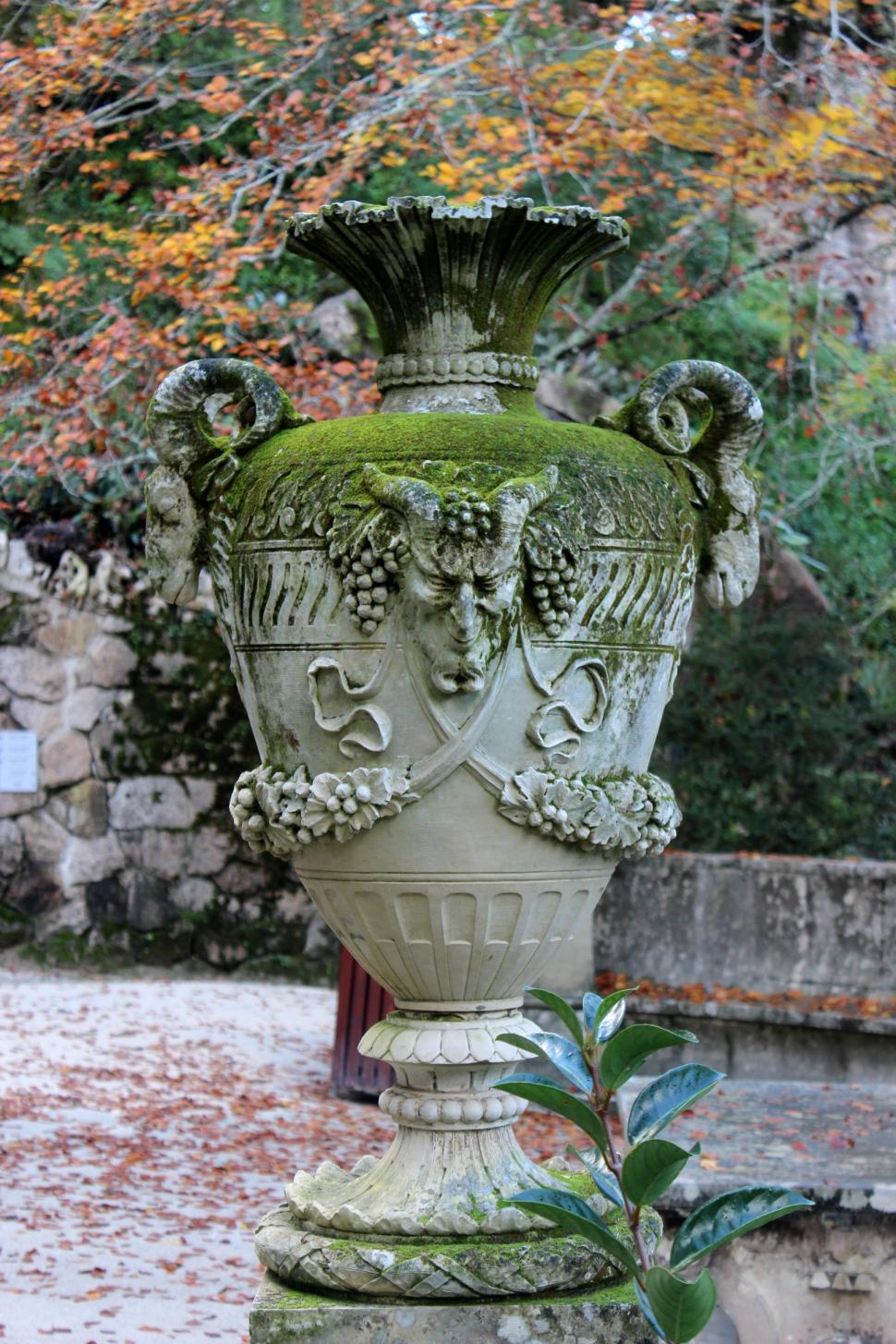 Download Free Stock HD Photo of Old Vase with Faun Face Online