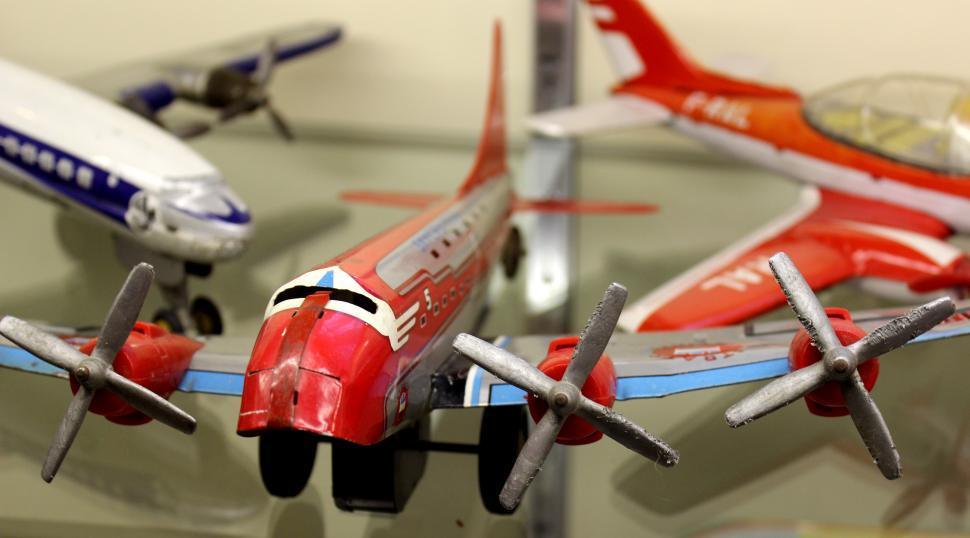 Download Free Stock HD Photo of Vintage Toys 1950s - Airplane Online