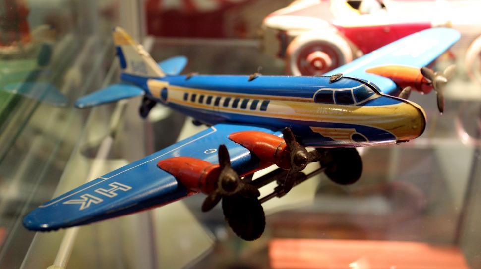 Download Free Stock HD Photo of Vintage Toys 1950s - Douglas DC-3 Online