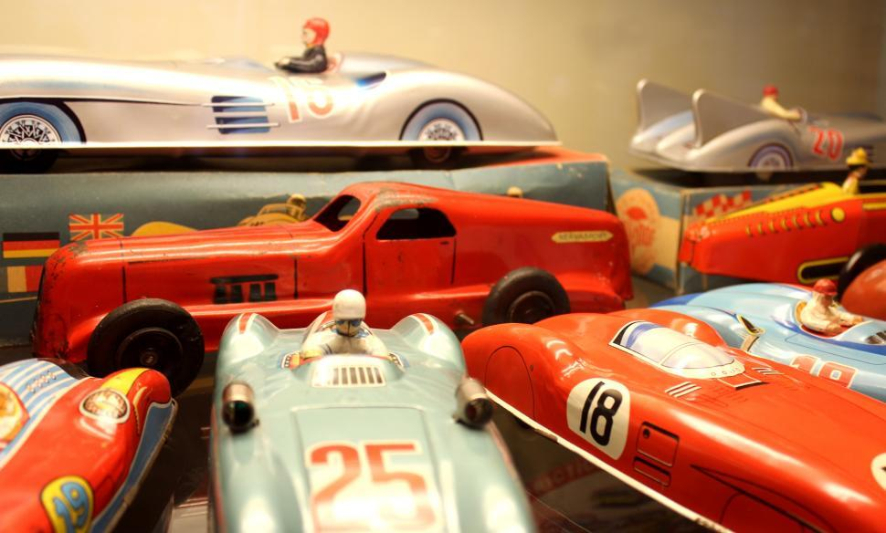 Download Free Stock HD Photo of Vintage Toys 1950s - Sports Cars Online