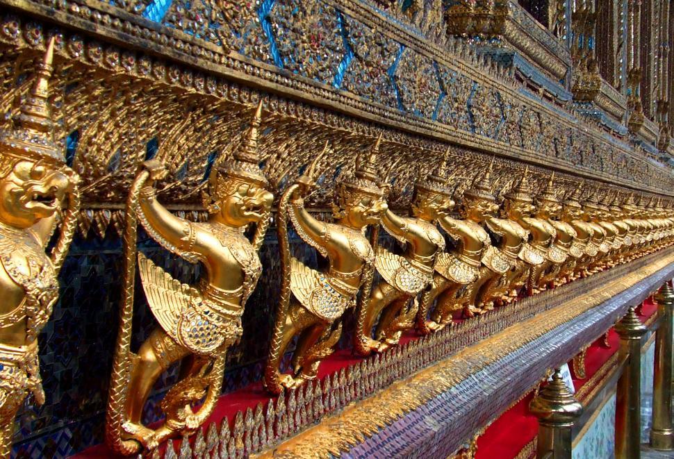 Download Free Stock HD Photo of Golden Garuda of Wat Phra Kaew in Bangkok - Thailand Online