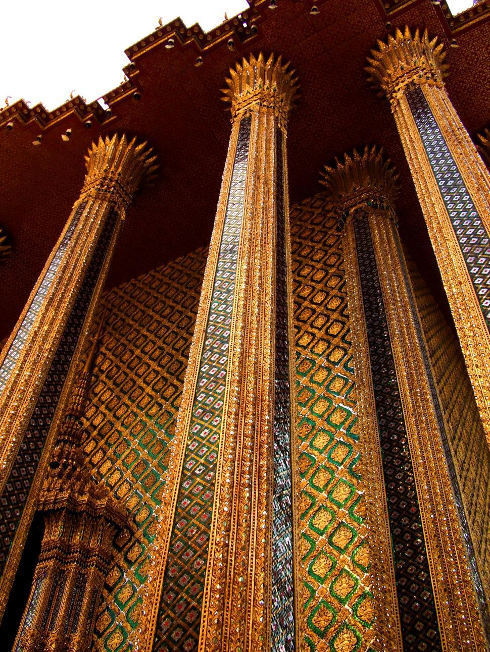Download Free Stock HD Photo of Thailand - Columns of Phra Mondop in Bangkok Online