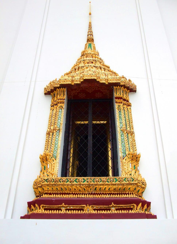 Download Free Stock HD Photo of Thai style temple window at Wat Phra Kaew - Bangkok - Thailand Online