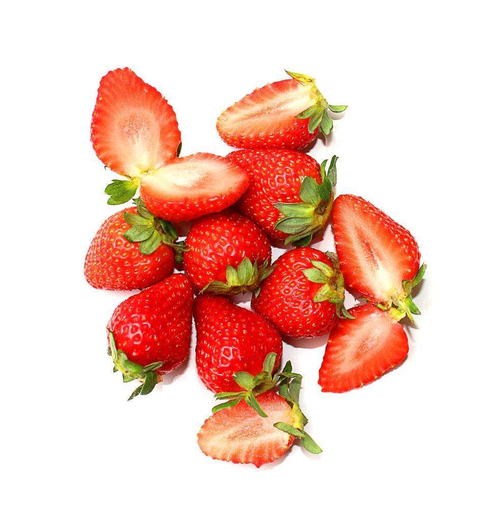 Download Free Stock HD Photo of Strawberry fruits on white Online