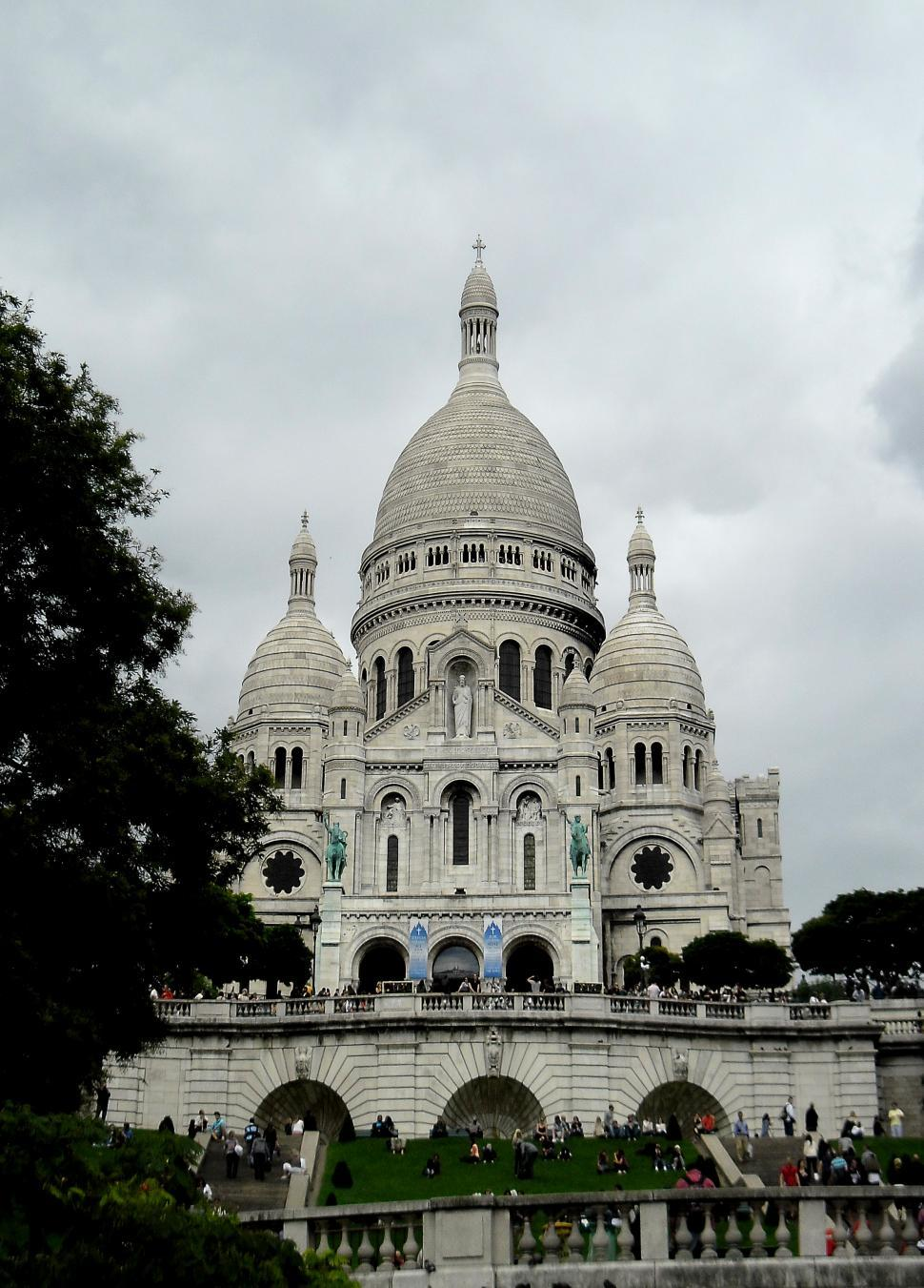Download Free Stock HD Photo of Sacre Coeur Cathedral in Paris - France Online
