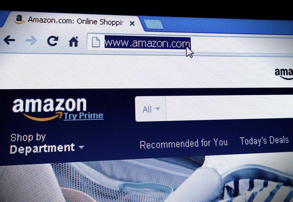 Download Free Stock HD Photo of Shopping - Amazon.com homepage on the screen Online