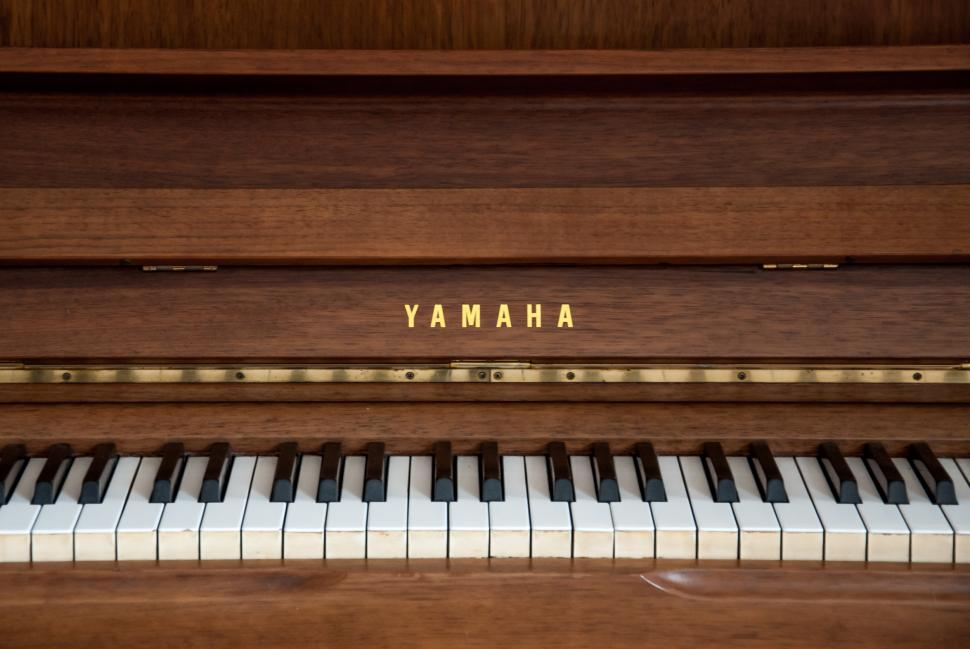 Download Free Stock HD Photo of wooden vintage piano Online