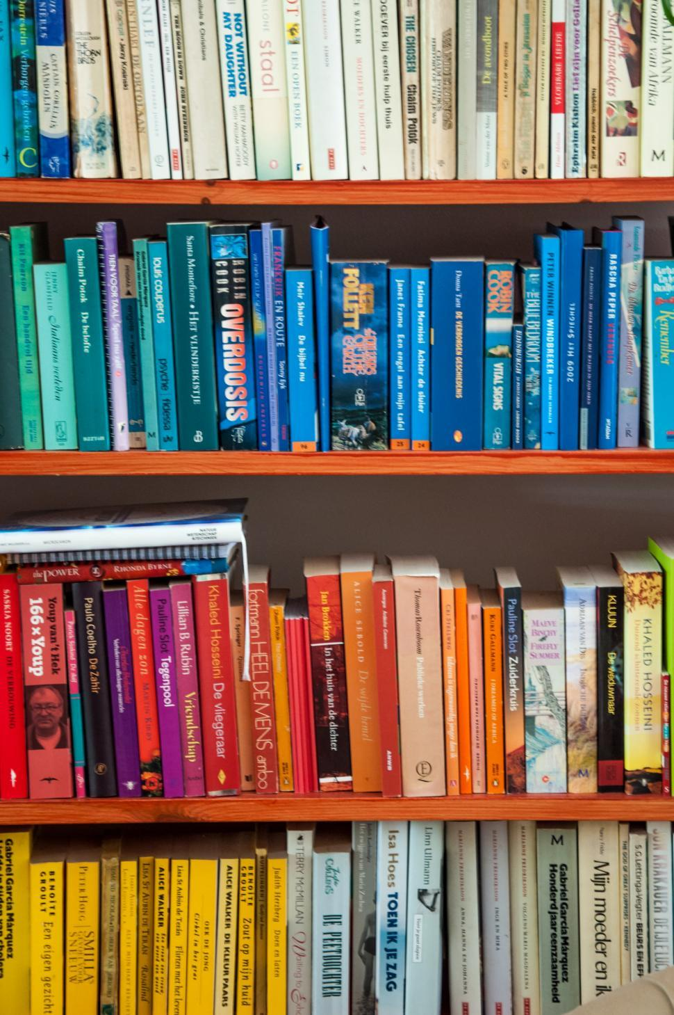 Download Free Stock HD Photo of Books in shelf in library Online