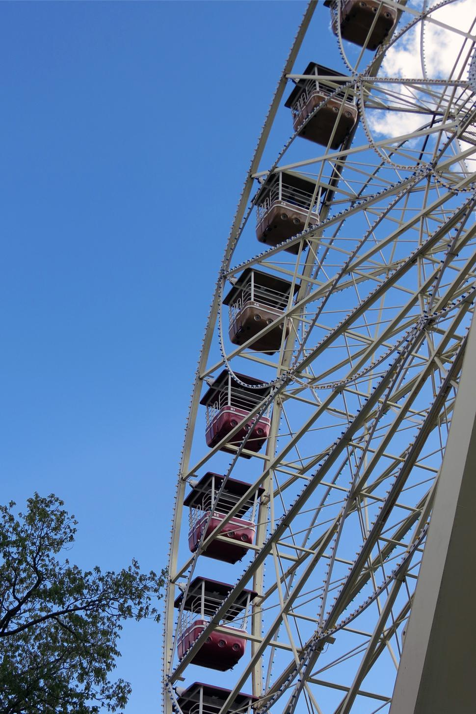 Download Free Stock HD Photo of Ferris Wheel Over Blue Sky Online