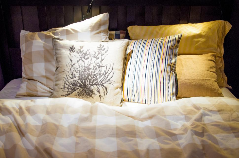 Download Free Stock HD Photo of pillows on a bed Online