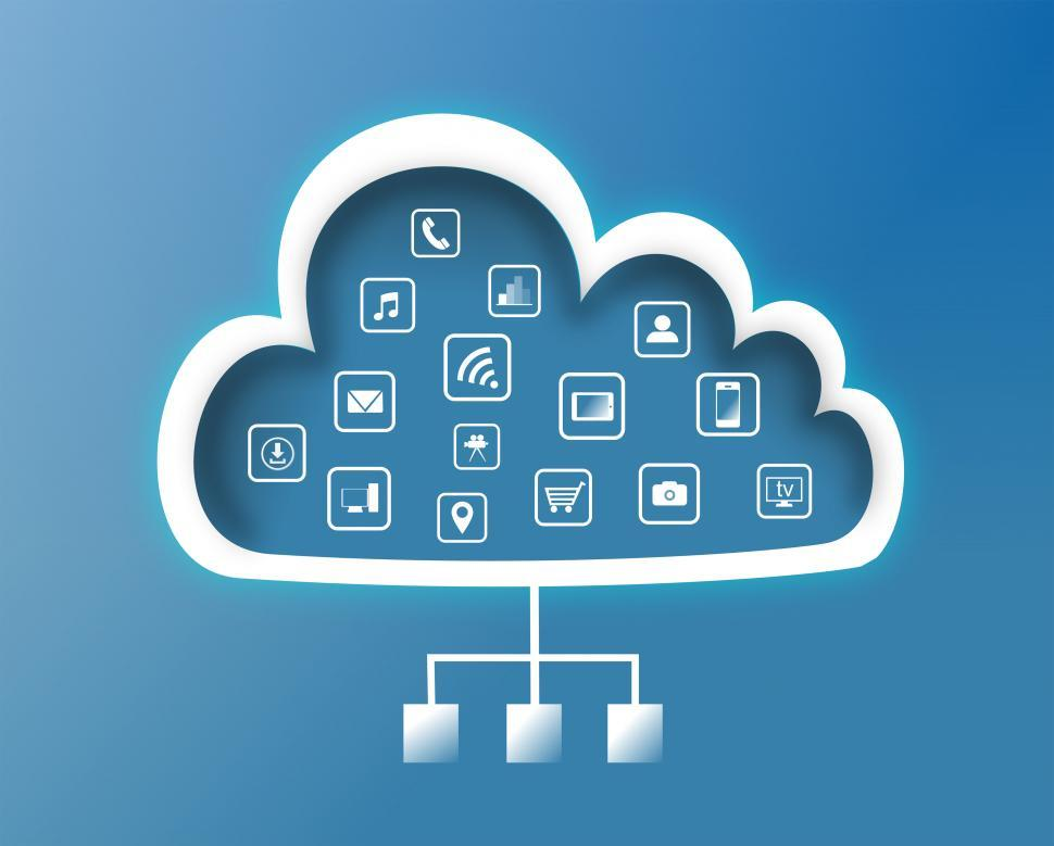Cloud Computing Concept - Flat Design