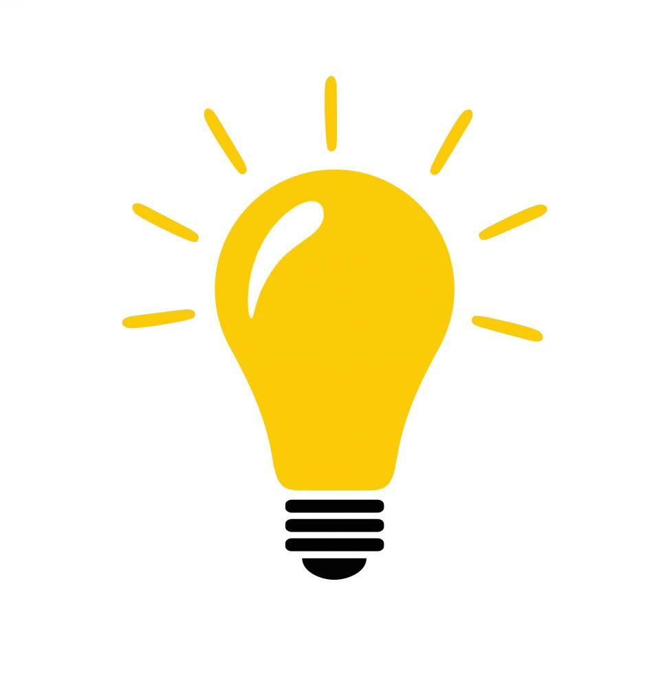 Download Free Stock HD Photo of Lightbulb with idea concept icon Online