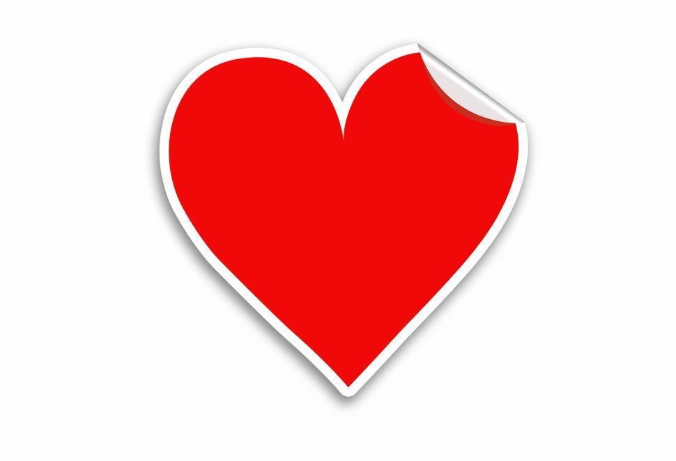 Download Free Stock HD Photo of Red Heart Sticker Valentines day vector  Online