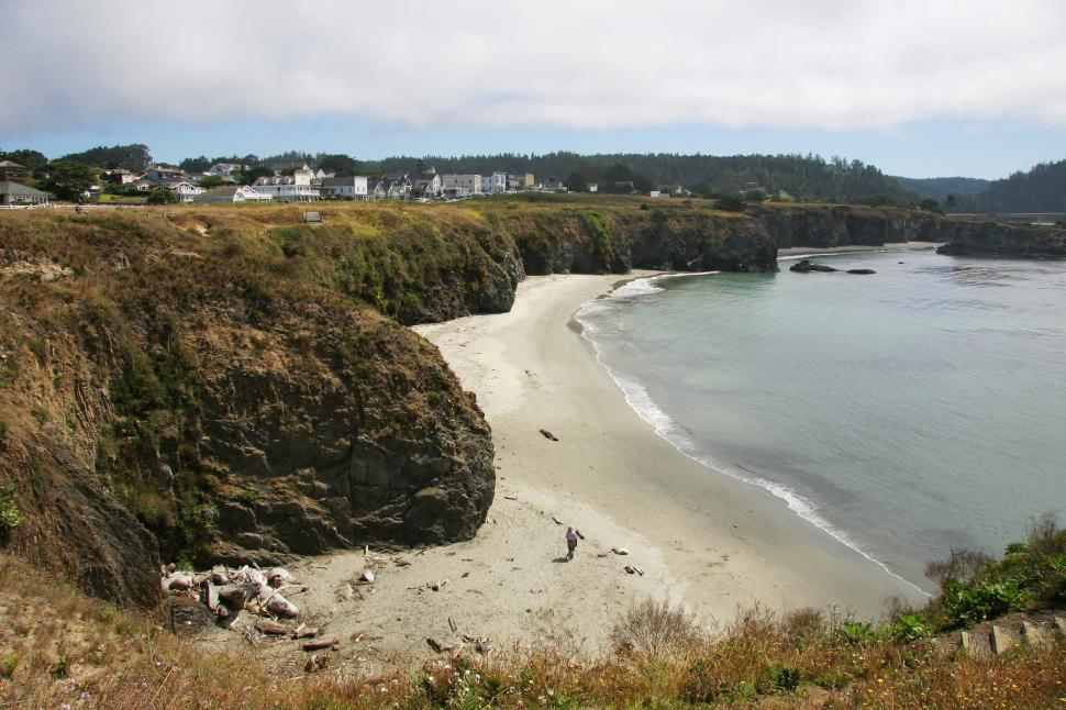 Download Free Stock HD Photo of Mendocino, California beach Online