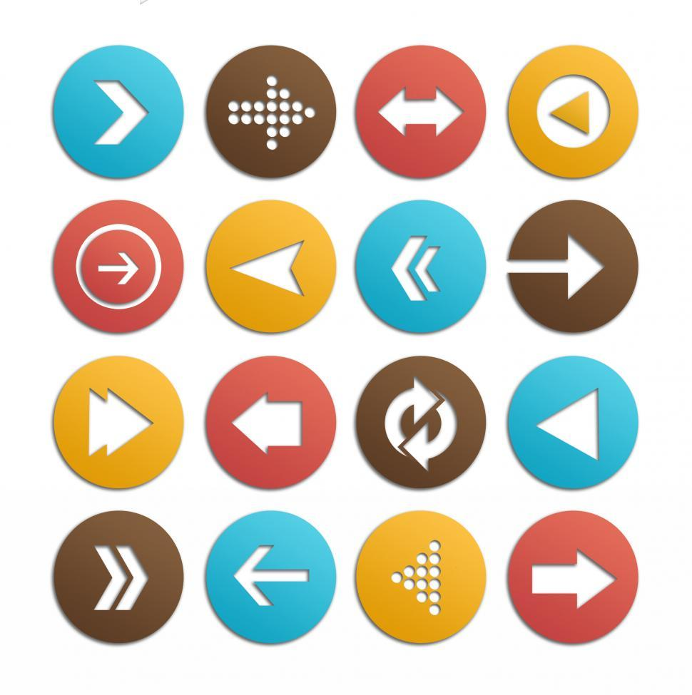 Download Free Stock HD Photo of Arrows icons vector set Online