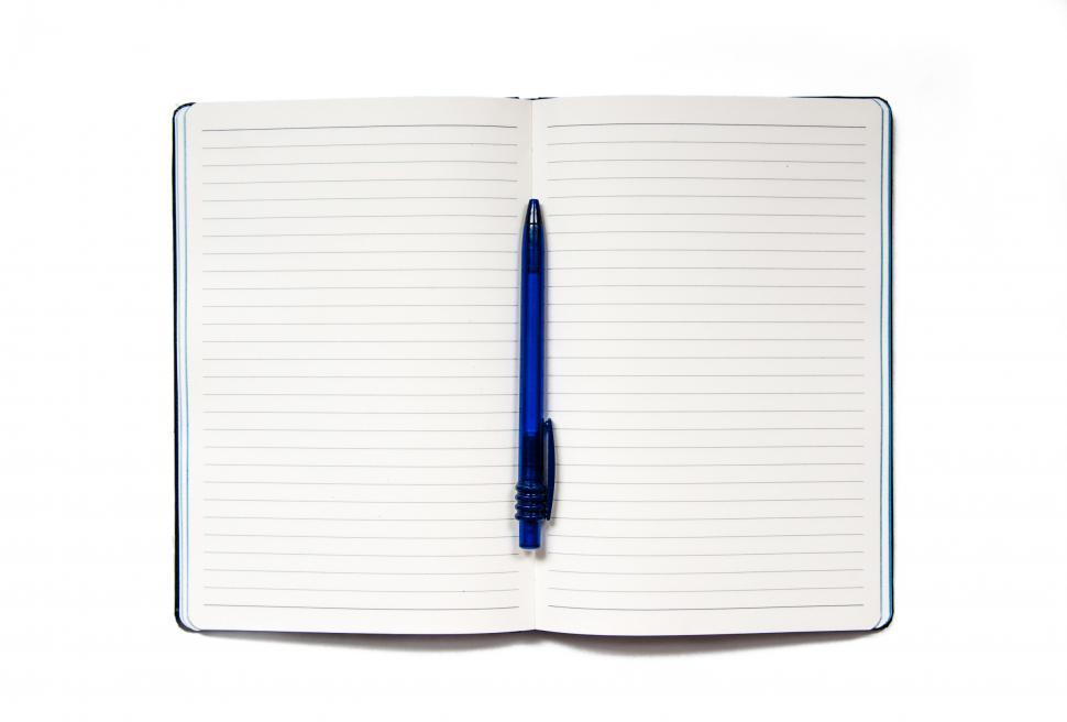 Download Free Stock HD Photo of notebook with pen isolated on white Online