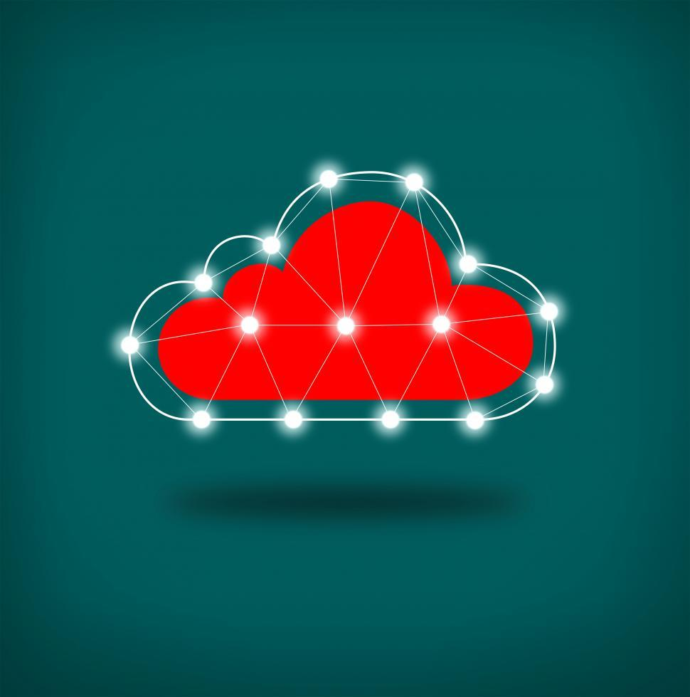 Download Free Stock HD Photo of Simple Connected Cloud - Digital Cloud Concept Online