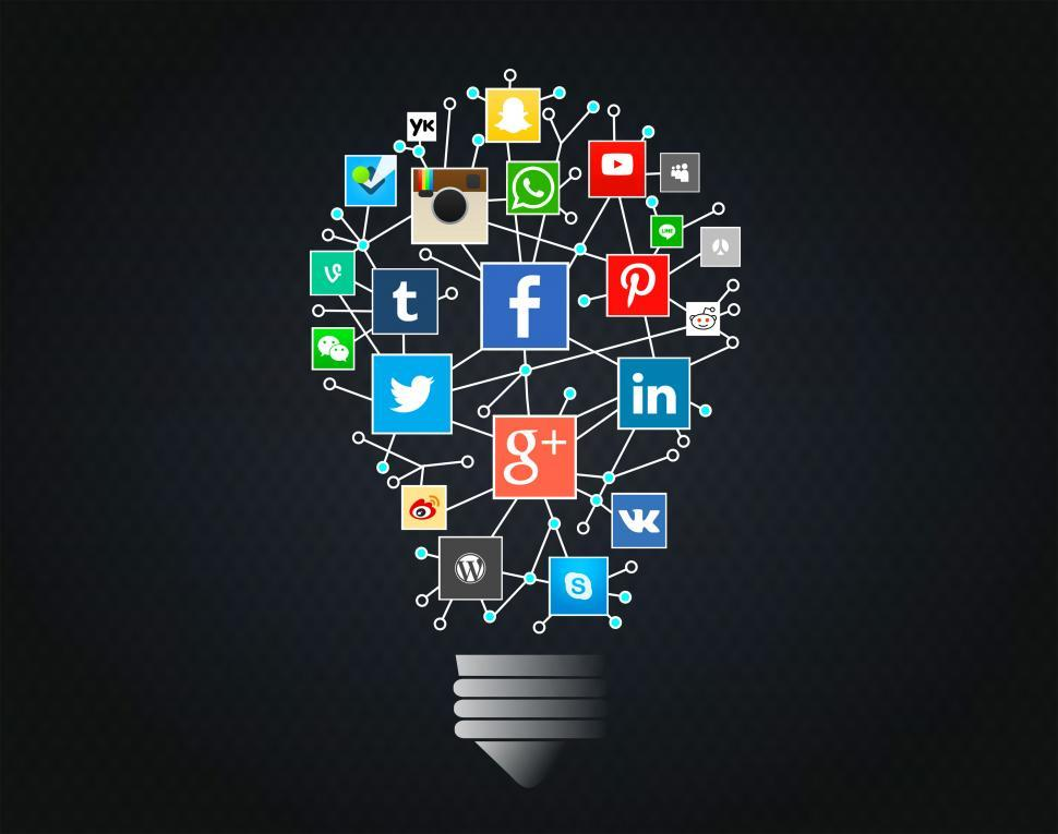 Free image of Going Social Concept - Networks Idea with Lightbulb