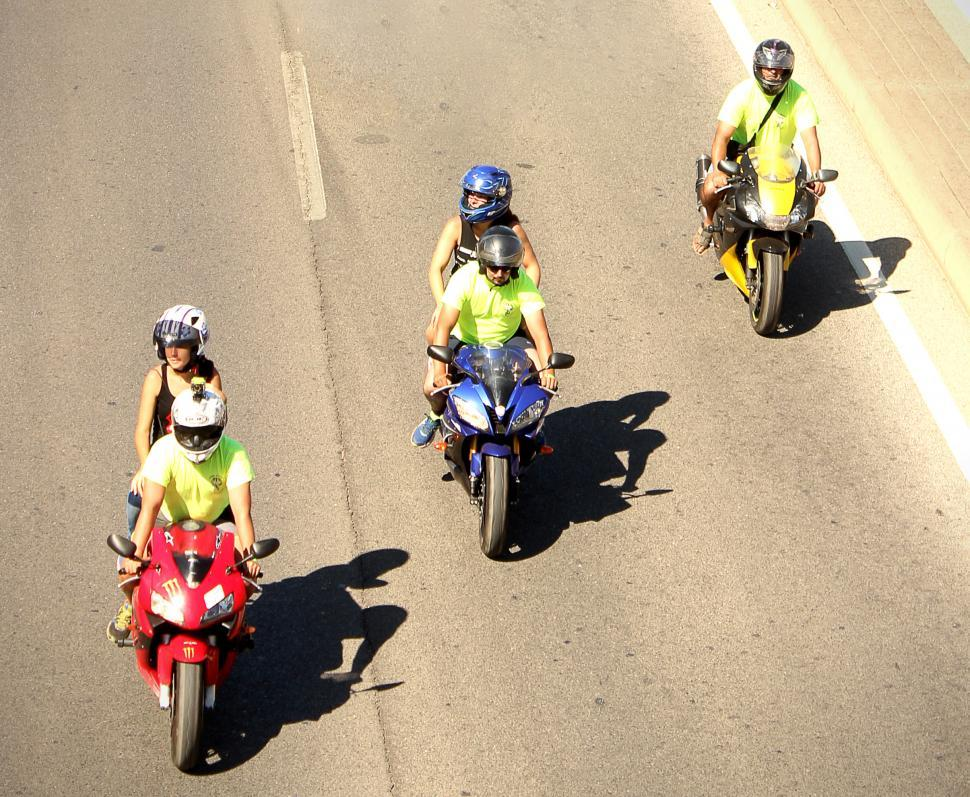 Download Free Stock HD Photo of Bikers on the highway. Editorial use only. Online