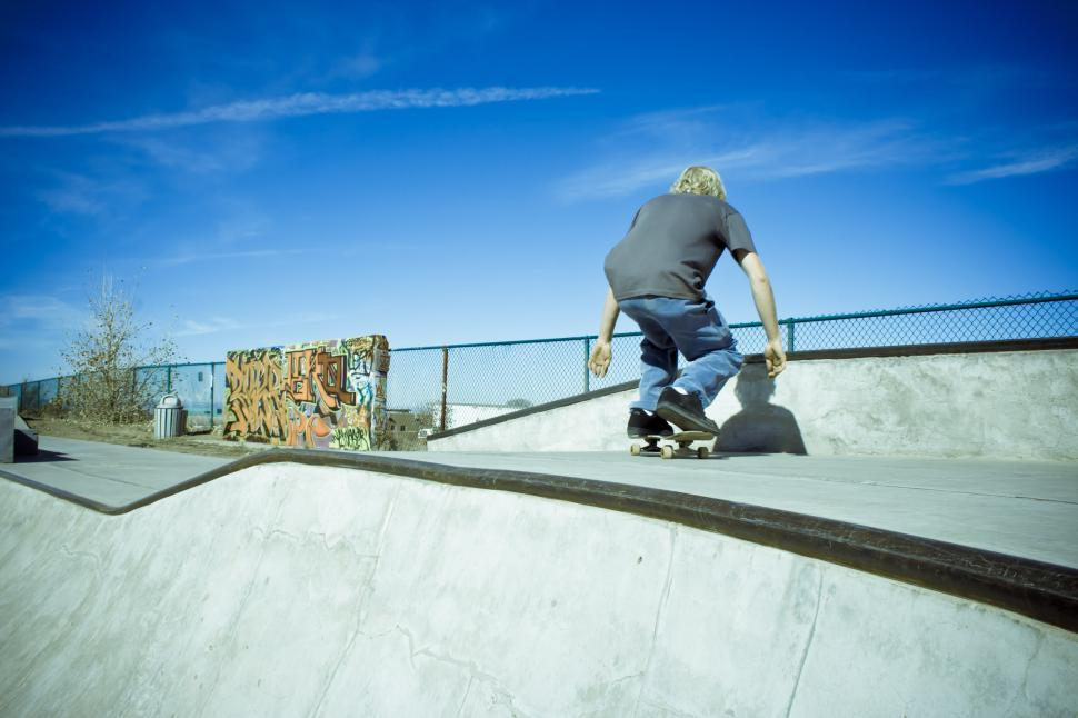 Download Free Stock HD Photo of Skateboarder Poised Online
