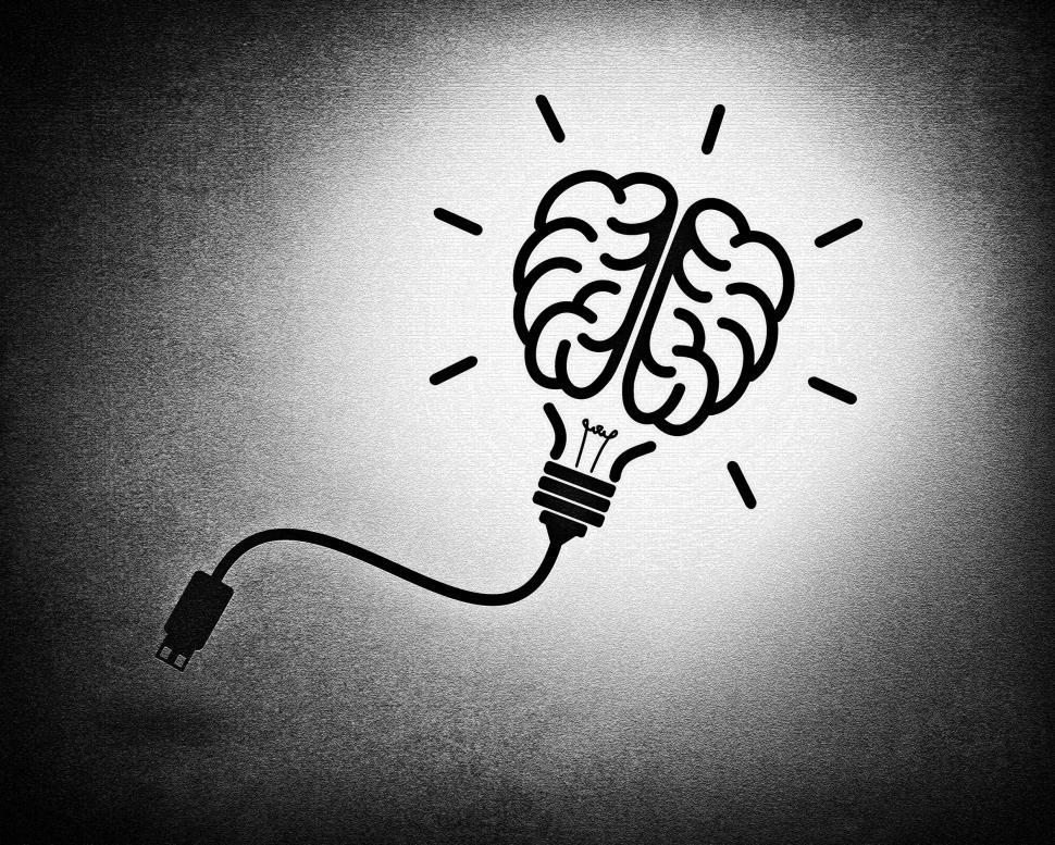 get free stock photos of creative brain idea concept with usb cable