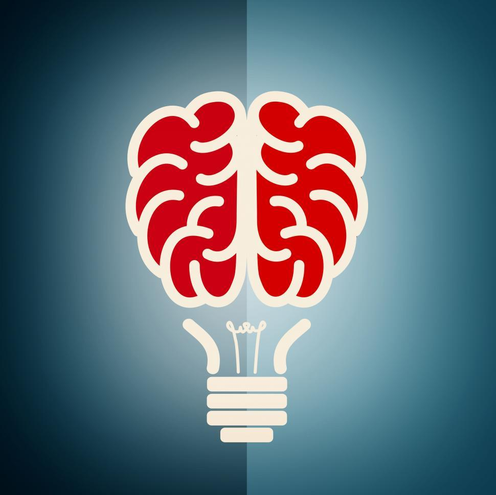 Download Free Stock HD Photo of Brain as a lightbulb - Creative idea concept Online