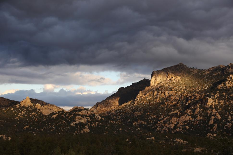Download Free Stock HD Photo of Granite Mountain in Storm  Online