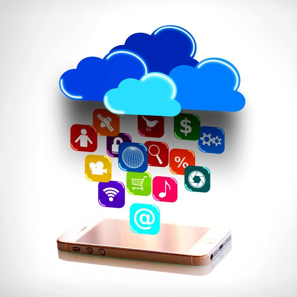 Download Free Stock HD Photo of Cloud computing and mobility concept - touchscreen smartphone di Online
