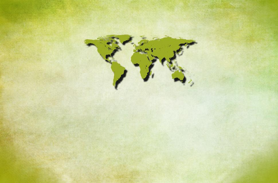 Download Free Stock HD Photo of Green world map with copyspace - Ecology concept Online
