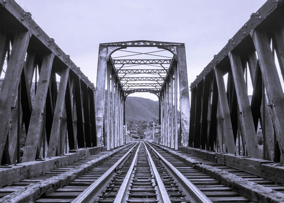 Download Free Stock HD Photo of Train Tracks Bridge Online