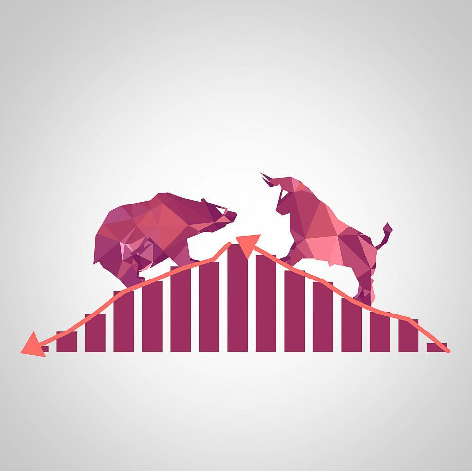 Download Free Stock HD Photo of Equity markets - Bull versus Bear concept Online