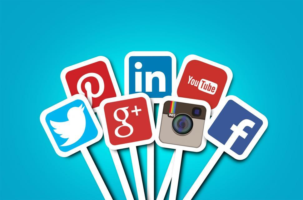 Free image of Main social networks - Brands of Facebook, Twitter, Instagram, YouTube, Google Plus, Pinterest, LinkedIn