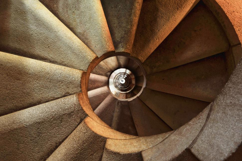 Download Free Stock HD Photo of Spiral staircase pattern Online