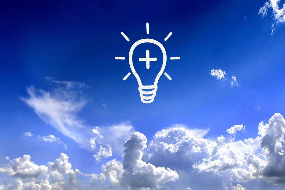Download Free Stock HD Photo of Lightbulb in the sky Online