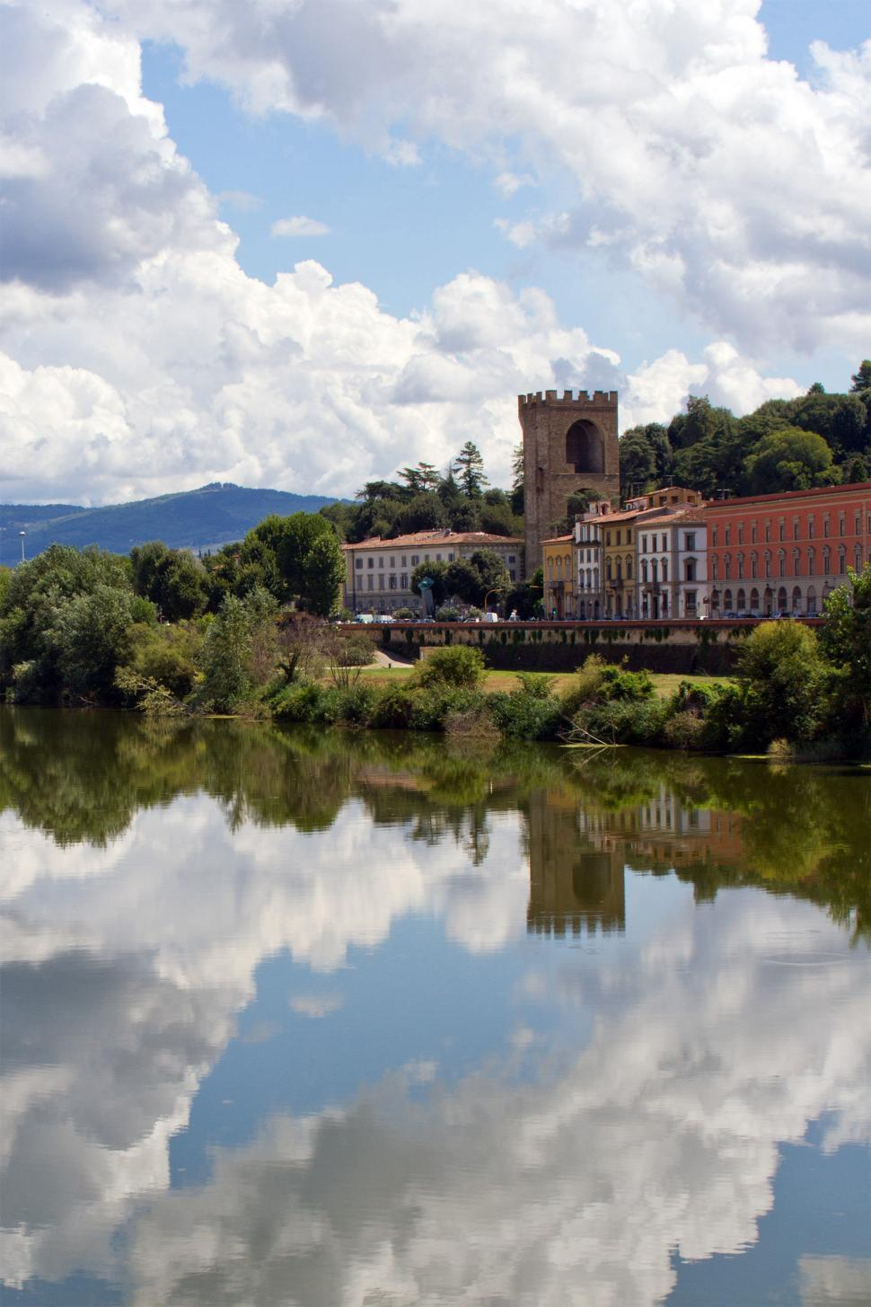 Download Free Stock HD Photo of Reflection in the Fiume Arno Online