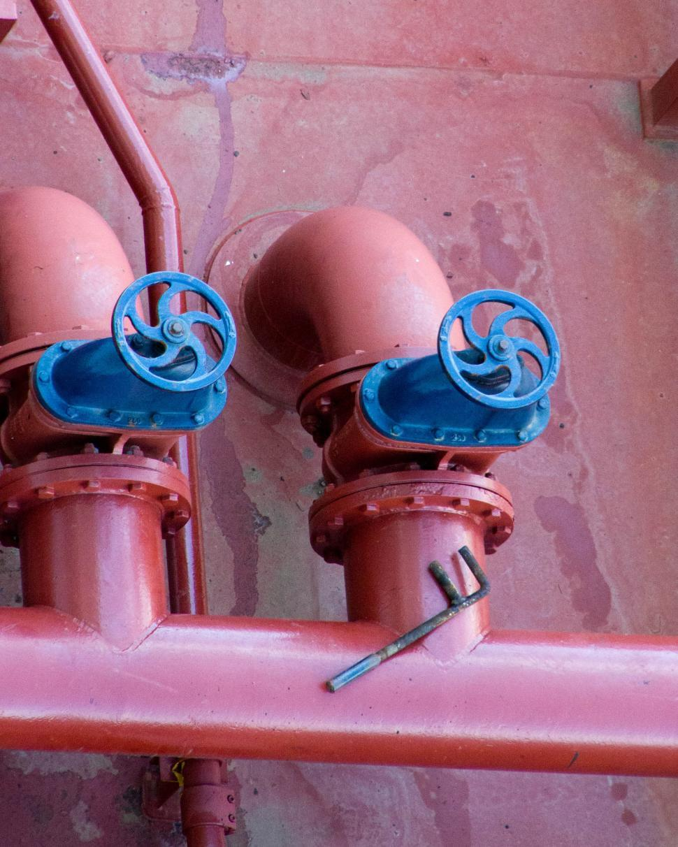 Download Free Stock HD Photo of Oil and gas pipelines, wrench and valves Online