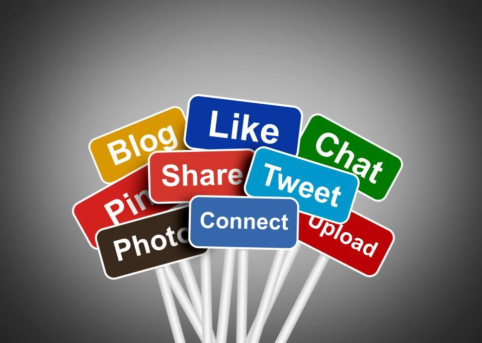 Download Free Stock HD Photo of Social media and networking concept - Social media buzzwords Online