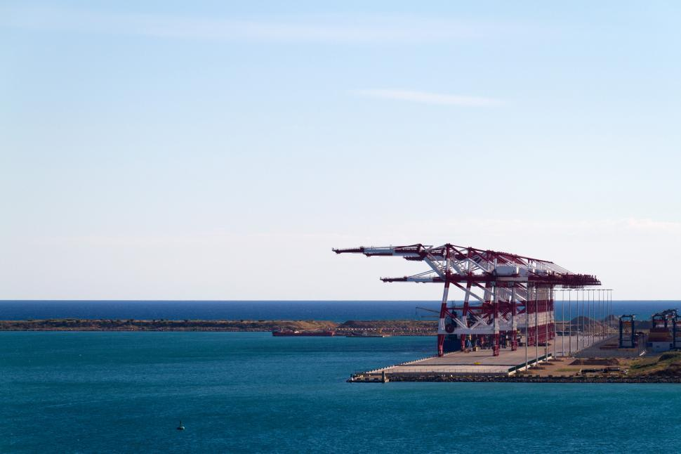 Download Free Stock HD Photo of Cranes at Dockside Online
