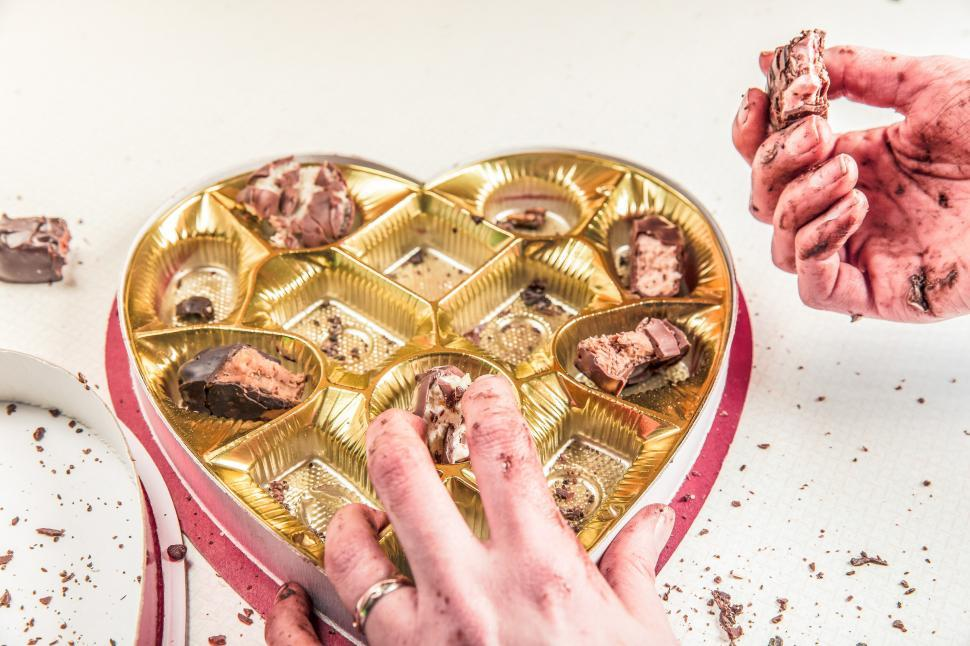 Download Free Stock HD Photo of Heart Shaped Chocolate Box Online