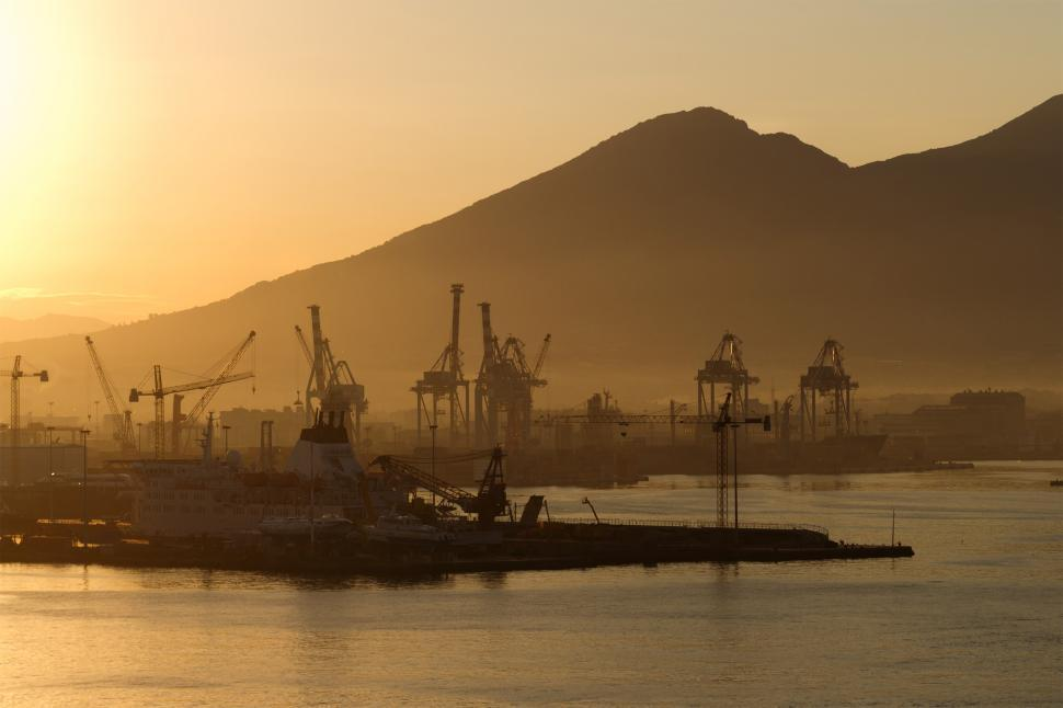 Download Free Stock HD Photo of Industrial Port  Online
