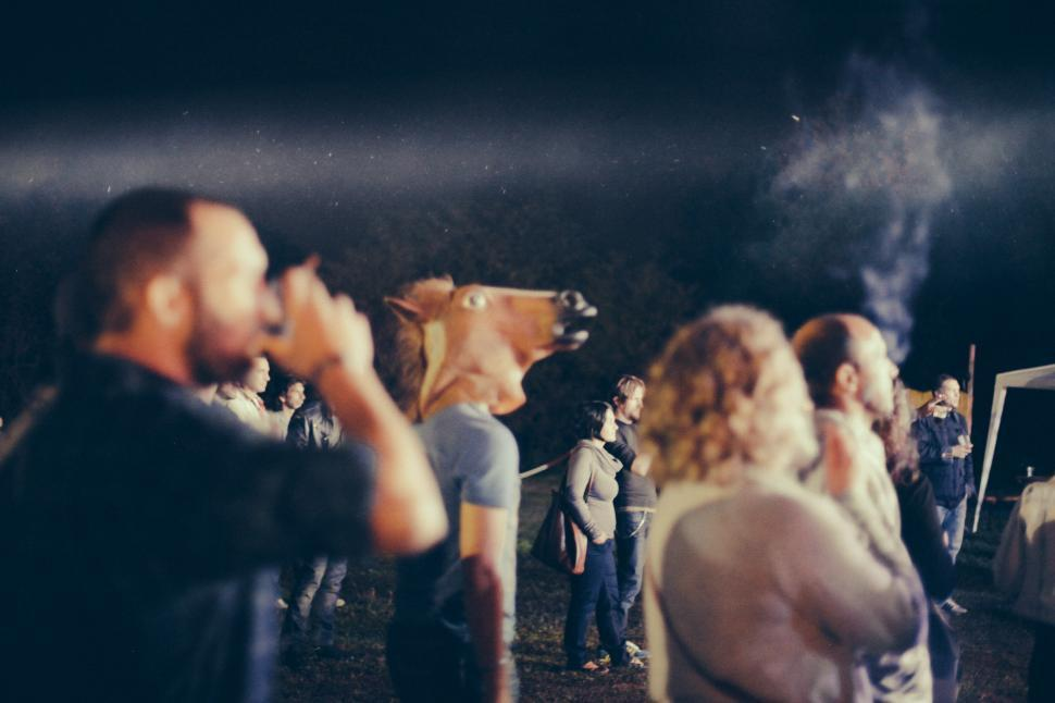 Download Free Stock HD Photo of People at open air concert Online