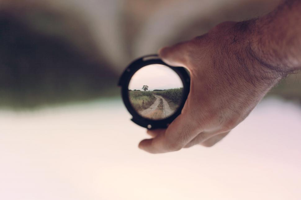 Download Free Stock HD Photo of Hand holding a camera lens Online