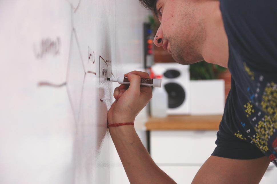 Download Free Stock HD Photo of Work on whiteboard Online