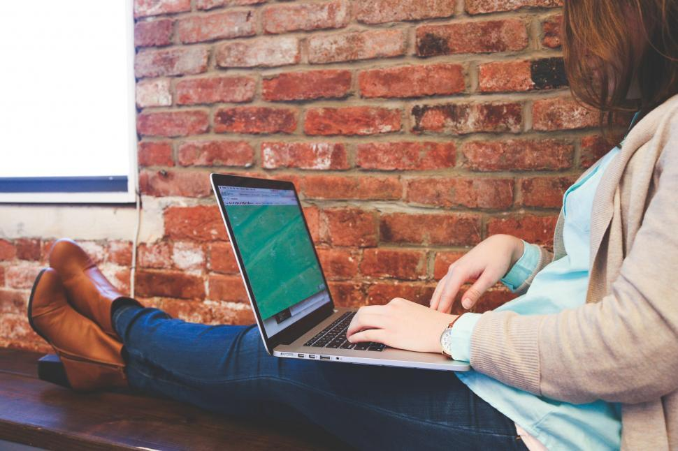 Download Free Stock HD Photo of Feet up, working Online
