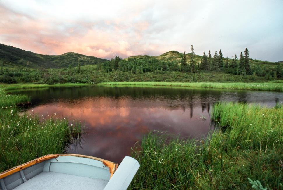 Download Free Stock HD Photo of Rainbow over Nugget pond Online